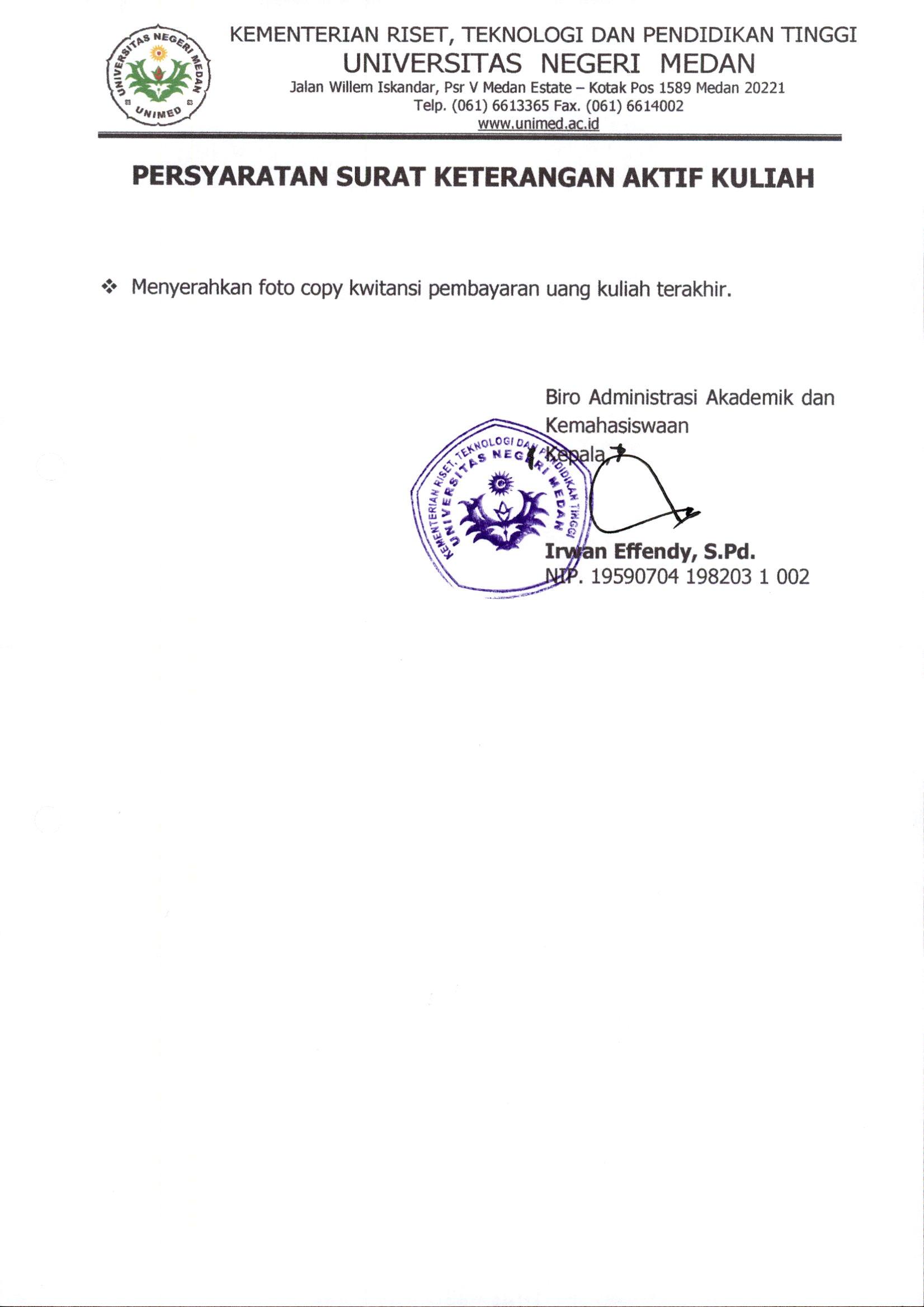 Bak Universitas Negeri Medan